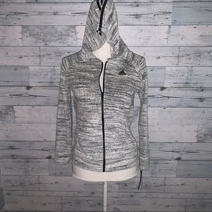 Adidas girls terry cloth zip up hoodie